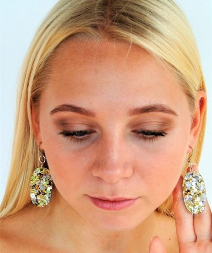 Broken Mirrors Oval Earring