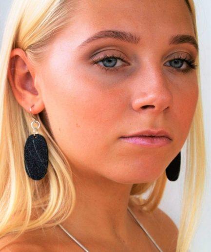Oval Shimmer Earrings