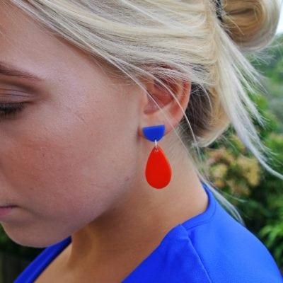 Fan Boat Earrings