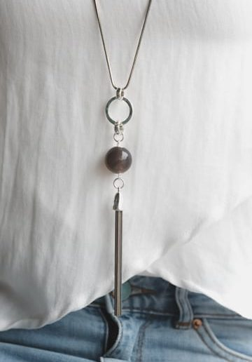 Ball Metallic Tassel Necklace