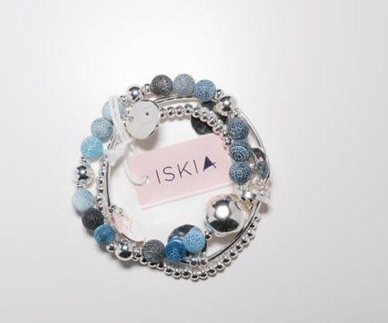 Triple Layer Blue Stone Bracelet