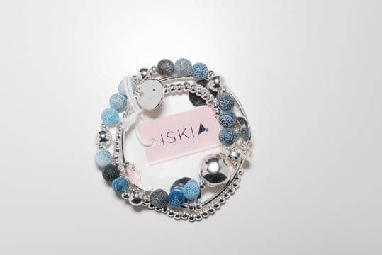 Triple Layer Blue Stone Bracelet